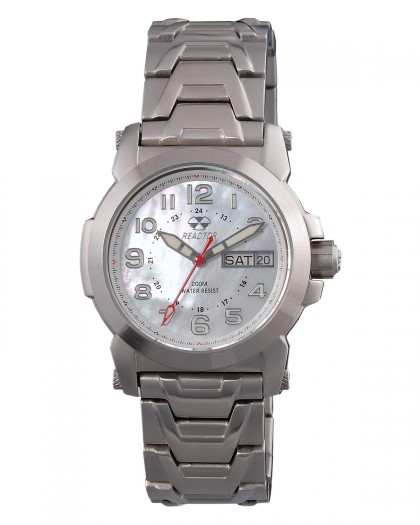 Reactor Atom Silver White Women's Watch