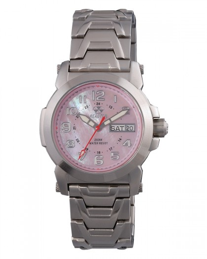 Reactor Atom Silver Pink Women's Watch