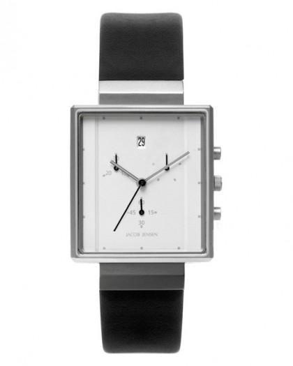 Jacob Jensen Rectangular Series Stainless Steel Silver Dial Men's Watch