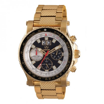 Reactor Valkyrie Gold Plated SS Black Dial Gold-Plated SS Bracelet 81201