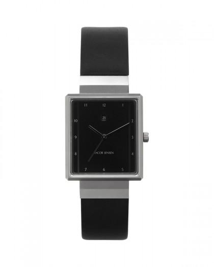 Jacob Jensen Rectangular Series Stainless Steel Black Dial Women's Watch