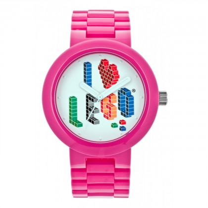 Lego I LOVE LEGO Pink Adult Watch