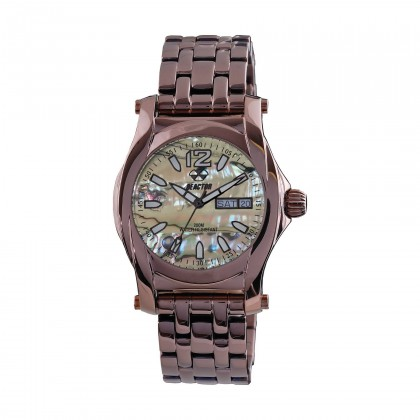 Reactor Curie Ladies Abalone & Coffee plated Watch