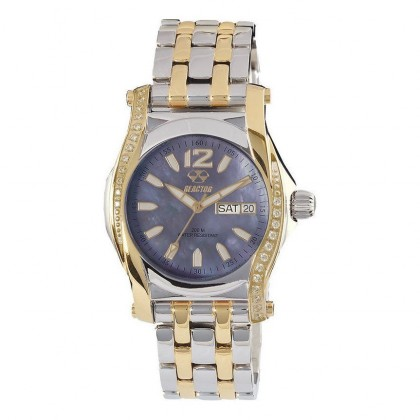 Reactor Curie Mid Stones Day/Date 2-Tone MOP Dial Swarovski Crystals 90902
