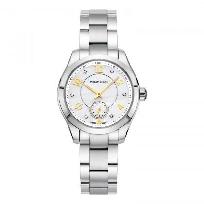 Philip Stein Traveler Diamond White Dial Women's Watch 91-DWMOP-SS
