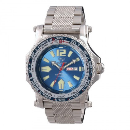 Reactor Proton Nd Day/Date SS Bracelet Bright Blue Dial Never Dark 91603