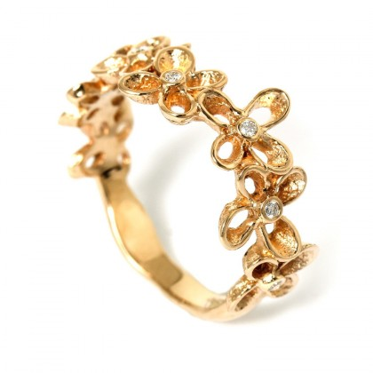 Violina Gold 0.07 CTW Ring