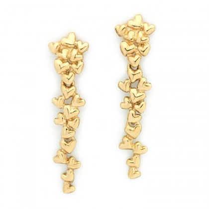 Hearts Gold  Earrings