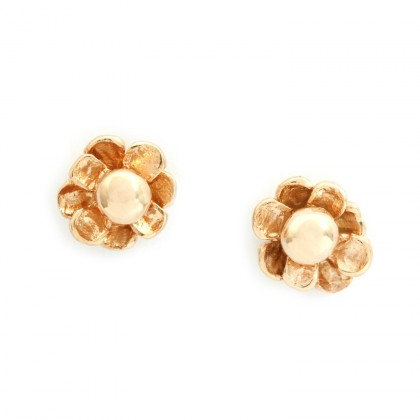 Happy Flower Gold Earrings