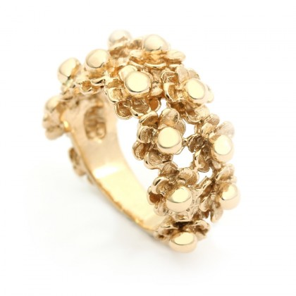 Happy Flower Gold Ring