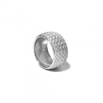 Borsari 925 silver ring rhodium plated - Size 7