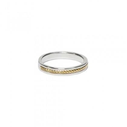 Borsari wedding ring 18k yellow gold ornament - Size 9
