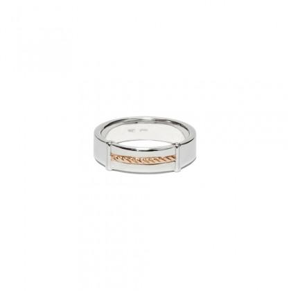 Borsari band ring – 18k rose gold ornament