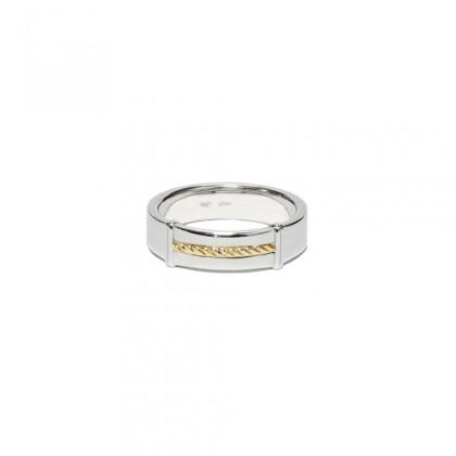 Borsari band ring 18k yellow gold ornament - Size 10
