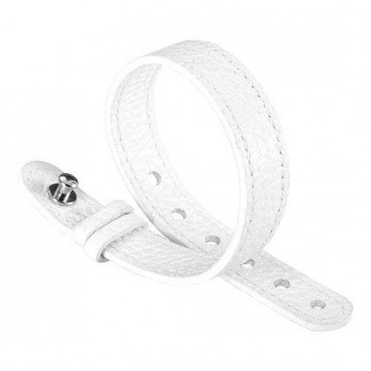 Philip Stein White Leather Watch Band For Steel Icon