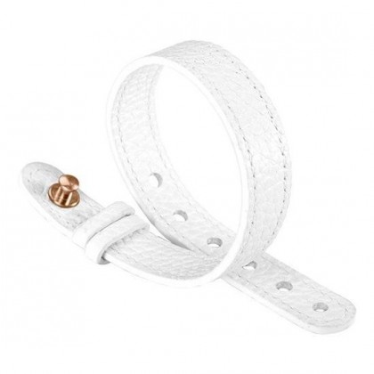 Philip Stein White Leather Strap For Rose Gold Icon