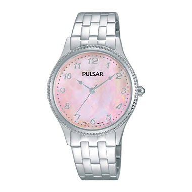 Pulsar Quartz Pink Dial Women's Watch