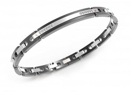 Zancan Stainless Steel Sapphire Bracelet