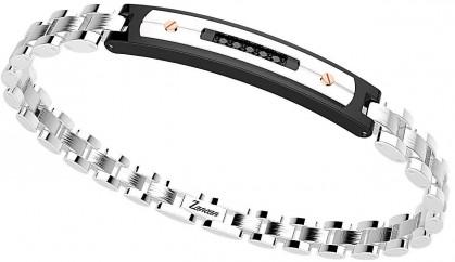 Zancan Stainless Steel Black Spinel Bracelet