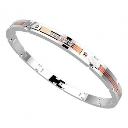 Zancan Bracelet Steel White Sapphire