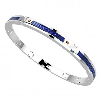 Zancan Bracelet Steel Blue Spinel