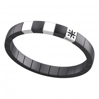 Zancan Bracelet Steel Black Spinel Black Ceramic