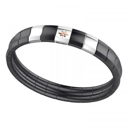 Zancan Braceelet Steel Black Ceramic EHB184