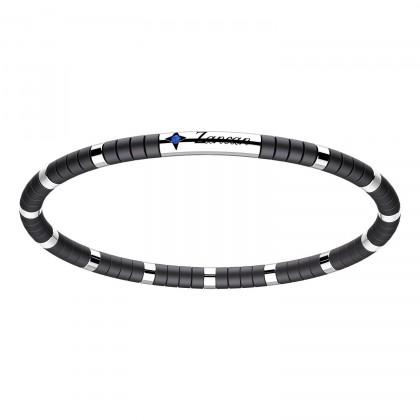 Zancan Bracelet Steel Black Ceramic Blue Spinel