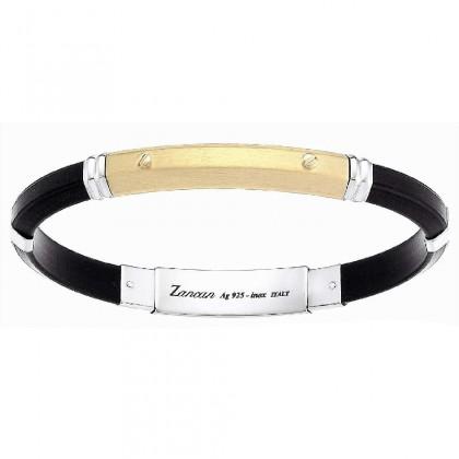 Zancan Silicon Silver Bracelet