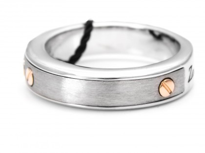 Zancan Silver And 18k White Gold Men's Ring