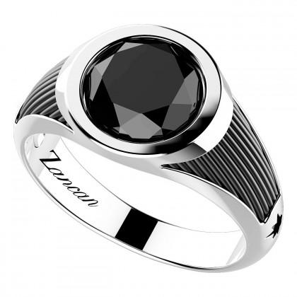 Zancan Ring Silver Onyx