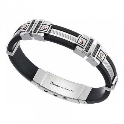 Zancan Silicon Sterling Silver Bracelet