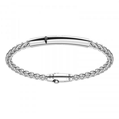 Zancan Silver Bracelet with Black Spinels