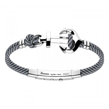 Zancan Bracelet Silver Steel Ship Cable