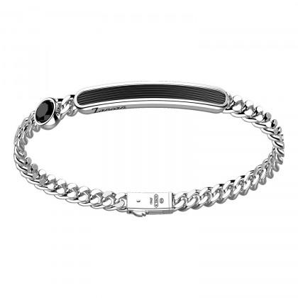 Zancan Bracelet Silver Onyx EXB971