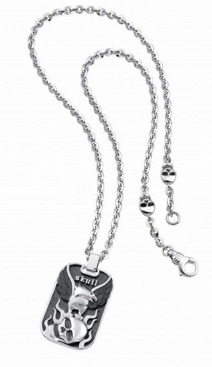 Zancan Silver Skull Necklace