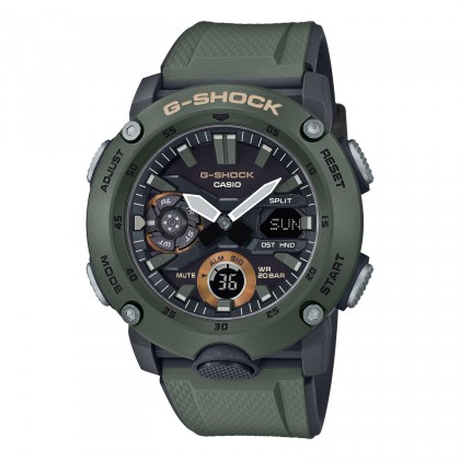 G-SHOCK Analog-Digital GA2000-3A Men's Watch Black