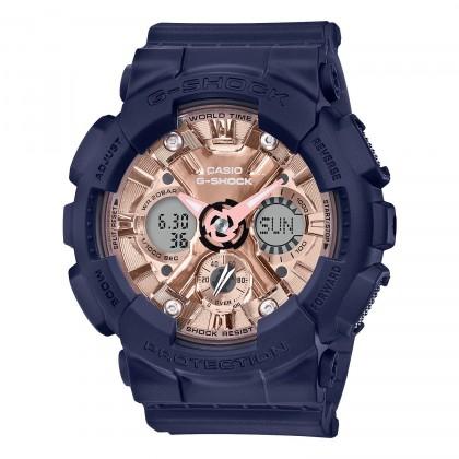 G-SHOCK S Series GMAS120MF-2A2 Women's Watch Navy Blue