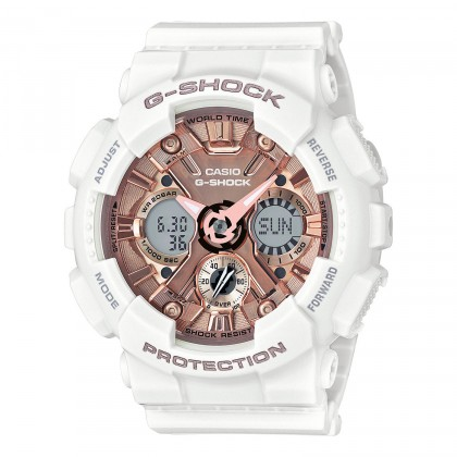 G-SHOCK S Series GMAS120MF-7A2 Women's Watch White