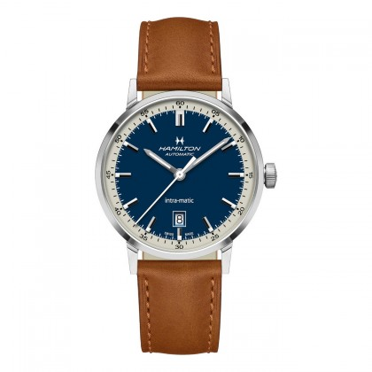 Hamilton Intra-Matic Automatic Blue Dial Watch