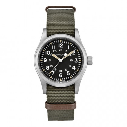 Hamilton Khaki Field Mechanical Green Nato Watch