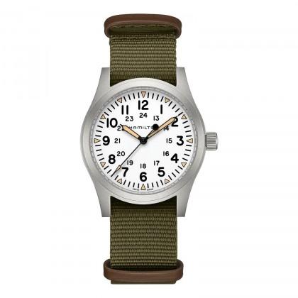 Hamilton Khaki Field Mechanical 42mm Green Nato Watch