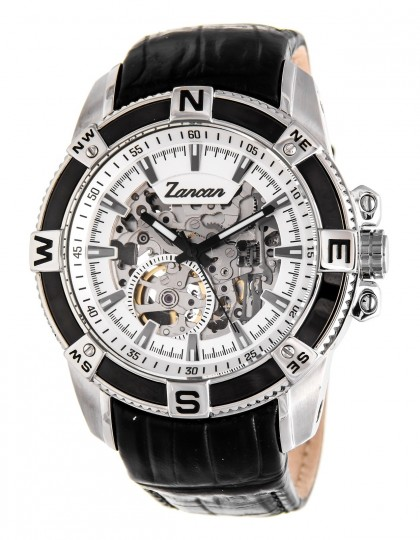 Zancan Skeleton Leather Band Automatic Watch Men's Watch HWA002