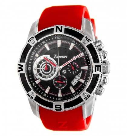 Zancan Chronograph Red Rubber Strap Men's Watch