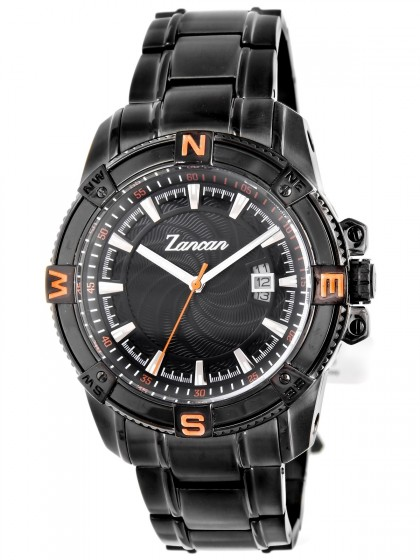 Zancan Black Plated Stainless Steel Men's Watch