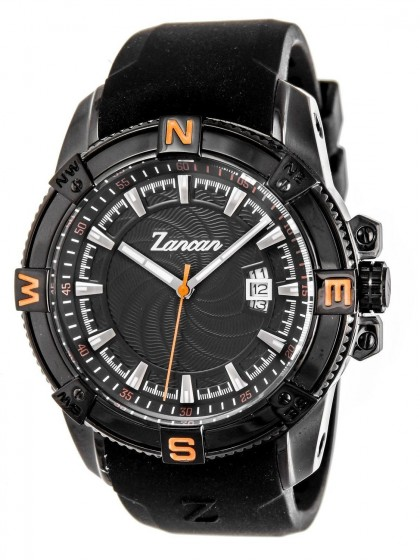 Zancan Black Rubber Strap Men's Watch