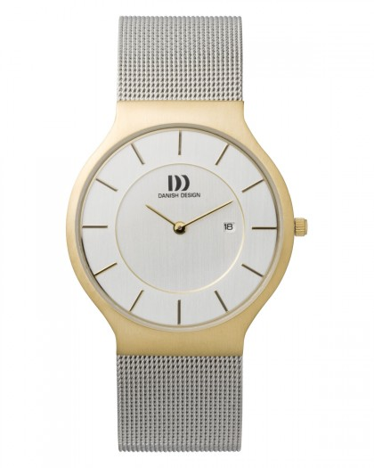 Danish Design Silver Color Mesh Band Stainless Steel Men's Watch