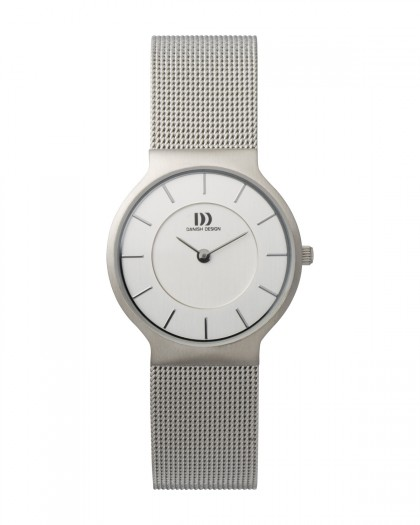 Danish Design Silver Color Mesh Band Stainless Steel Women's Watch