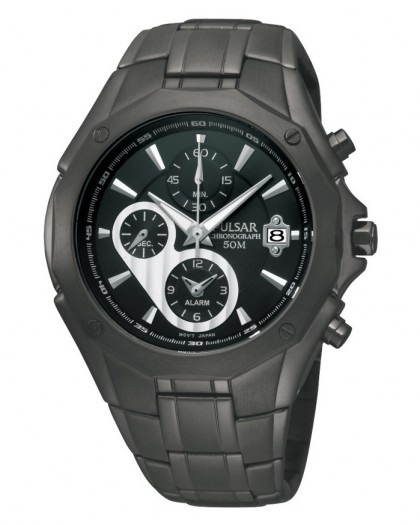 Pulsar Chronograph Quartz Black Dial Black Men's Watch
