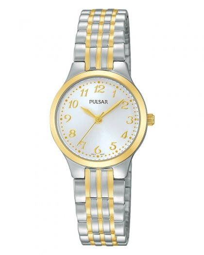 Pulsar Quartz Silver Dial Two-Tone Women's Watch